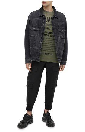 Мужская хлопковая футболка DSQUARED2 хаки цвета, арт. S71GD0960/S21600 | Фото 2