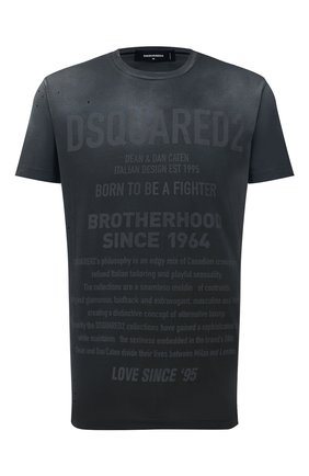 Мужская хлопковая футболка DSQUARED2 черного цвета, арт. S71GD0960/S21600 | Фото 1
