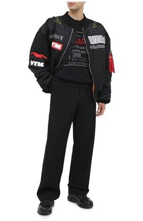 Мужской хлопковый свитшот DSQUARED2 черного цвета, арт. S71GU0402/S25030 | Фото 2