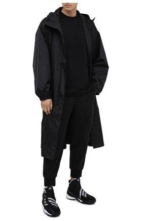 Мужская хлопковая футболка Y-3 черного цвета, арт. GK4362/M | Фото 2