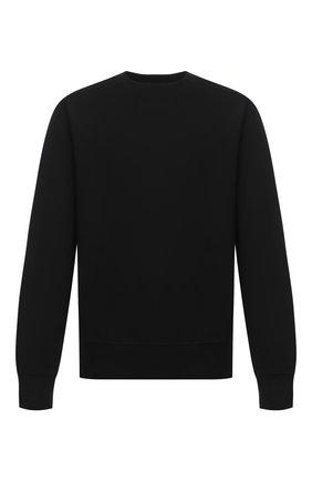 Мужской хлопковый свитшот Y-3 черного цвета, арт. FN3371/M | Фото 1