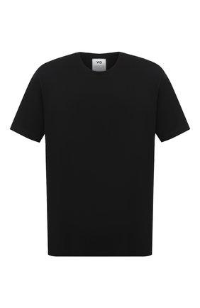 Мужская хлопковая футболка Y-3 черного цвета, арт. FN3348/M | Фото 1
