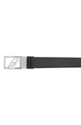 Мужской кожаный ремень BRIONI черного цвета, арт. 0BAS0L/P9721   Фото 3 (Случай: Формальный)