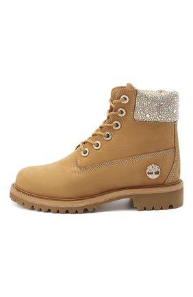 Женские кожаные ботинки jc x timberland JIMMY CHOO бежевого цвета, арт. JC X TIMBERLAND/F/TNCL | Фото 3