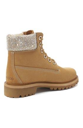 Женские кожаные ботинки jc x timberland JIMMY CHOO бежевого цвета, арт. JC X TIMBERLAND/F/TNCL | Фото 4