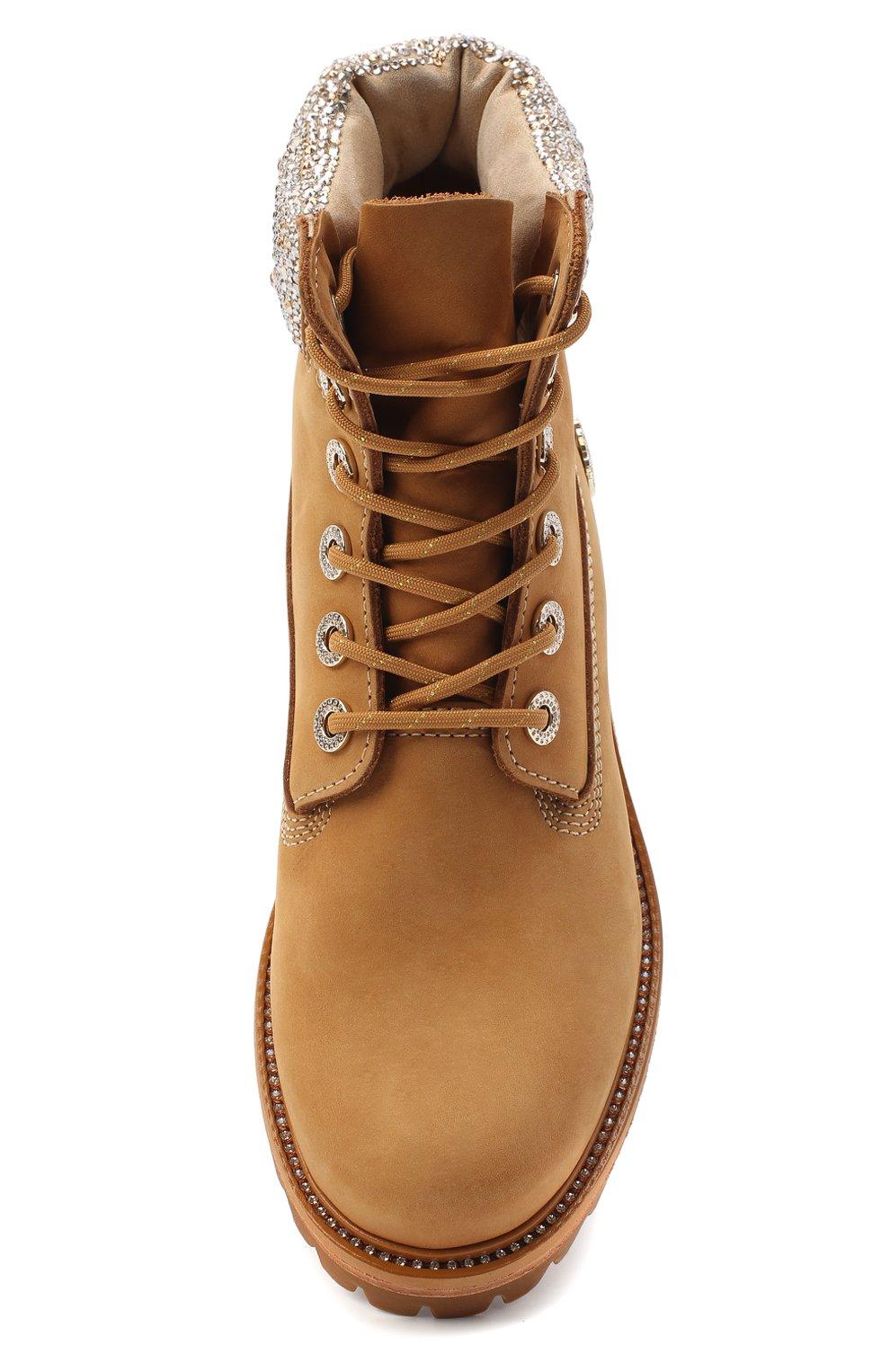 Женские кожаные ботинки jc x timberland JIMMY CHOO бежевого цвета, арт. JC X TIMBERLAND/F/TNCL | Фото 5