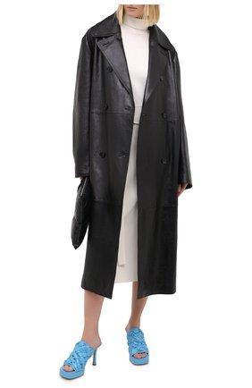 Женские кожаные мюли bv bold BOTTEGA VENETA голубого цвета, арт. 630175/VBT10 | Фото 2