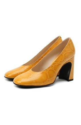 Женская кожаные туфли TOD'S желтого цвета, арт. XXW83C0DE60XLX   Фото 1