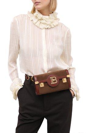 Женская поясная сумка bbuzz 23 BALMAIN коричневого цвета, арт. UN0S595/LCCU | Фото 2