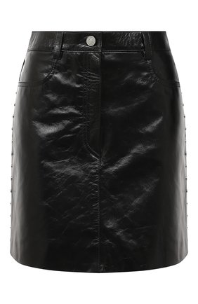 Женская кожаная юбка GIVENCHY черного цвета, арт. BW40EK60HU | Фото 1