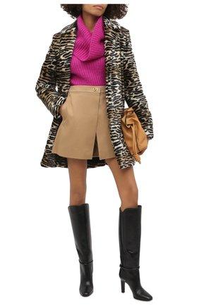Женские хлопковые шорты GIVENCHY бежевого цвета, арт. BW50LA11UD | Фото 2