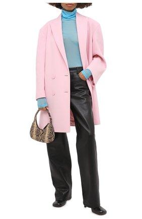 Женское шерстяное пальто GIVENCHY розового цвета, арт. BWC06W127Y   Фото 2