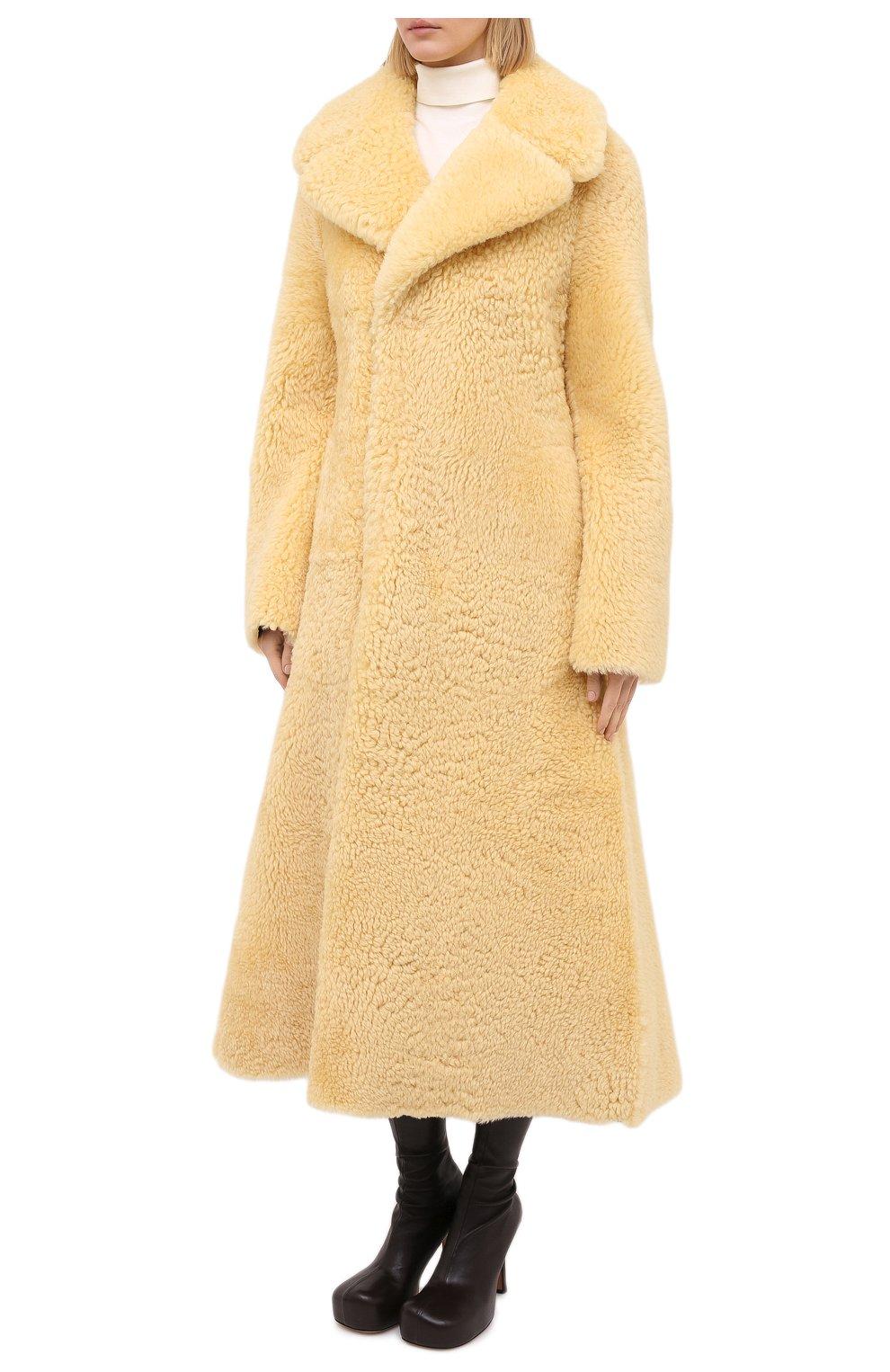Женская дубленка из овчины BOTTEGA VENETA бежевого цвета, арт. 641923/VKV70 | Фото 4