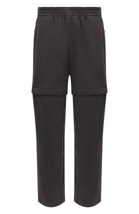 Мужской хлопковые брюки BOTTEGA VENETA темно-серого цвета, арт. 626818/V0KF0 | Фото 1