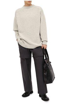 Мужской хлопковые брюки BOTTEGA VENETA темно-серого цвета, арт. 626818/V0KF0 | Фото 2