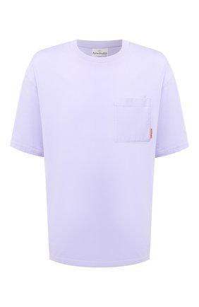 Мужская хлопковая футболка ACNE STUDIOS сиреневого цвета, арт. BL0214 | Фото 1