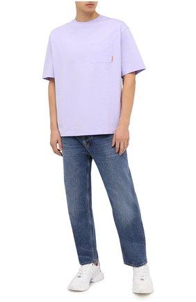 Мужская хлопковая футболка ACNE STUDIOS сиреневого цвета, арт. BL0214 | Фото 2