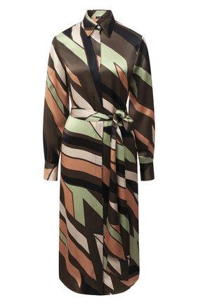 Женское шелковое платье KITON зеленого цвета, арт. D50348K05T81 | Фото 1