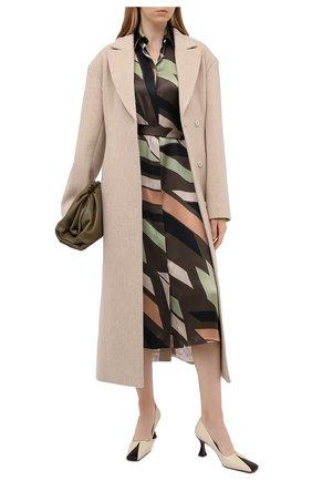 Женское шелковое платье KITON зеленого цвета, арт. D50348K05T81 | Фото 2
