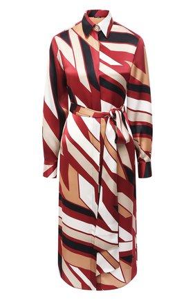 Женское шелковое платье KITON разноцветного цвета, арт. D50348K05T81 | Фото 1