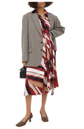 Женское шелковое платье KITON разноцветного цвета, арт. D50348K05T81 | Фото 2
