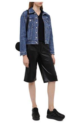 Женские кожаные кроссовки maxi platform HOGAN черного цвета, арт. HXW2830T5480UG   Фото 2