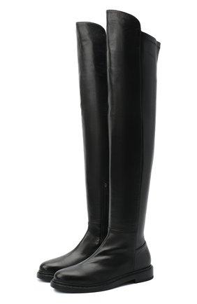Женские кожаные ботфорты LE SILLA черного цвета, арт. 6210R020M1PPANI | Фото 1