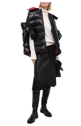 Женские кожаные ботфорты LE SILLA черного цвета, арт. 6210R020M1PPANI | Фото 2