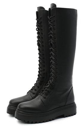 Женские кожаные сапоги LE SILLA черного цвета, арт. 6483R020M1PPCHI   Фото 1