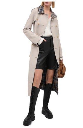 Женские кожаные сапоги LE SILLA черного цвета, арт. 6483R020M1PPCHI   Фото 2