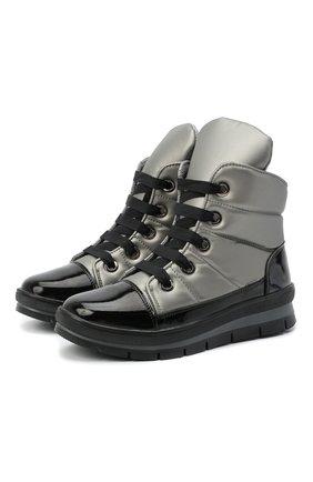Женские текстильные ботинки JOG DOG серебряного цвета, арт. 14007R/DR_ZAFFIR0SIGMA/W   Фото 1