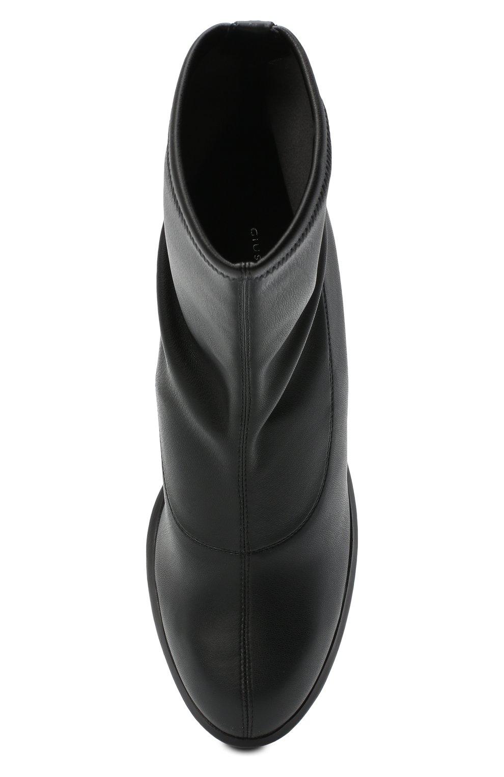 Женские комбинированные ботильоны GIUSEPPE ZANOTTI DESIGN черного цвета, арт. I070013/001 | Фото 5