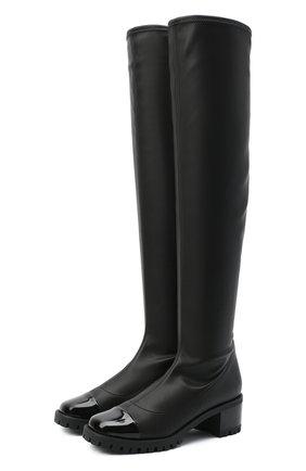 Женские комбинированный ботфорты GIUSEPPE ZANOTTI DESIGN черного цвета, арт. I080002/001 | Фото 1
