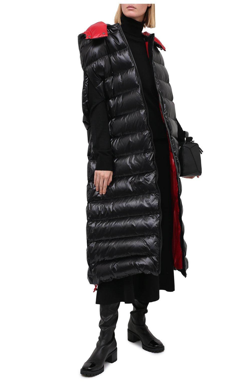 Женские комбинированный ботфорты GIUSEPPE ZANOTTI DESIGN черного цвета, арт. I080002/001 | Фото 2