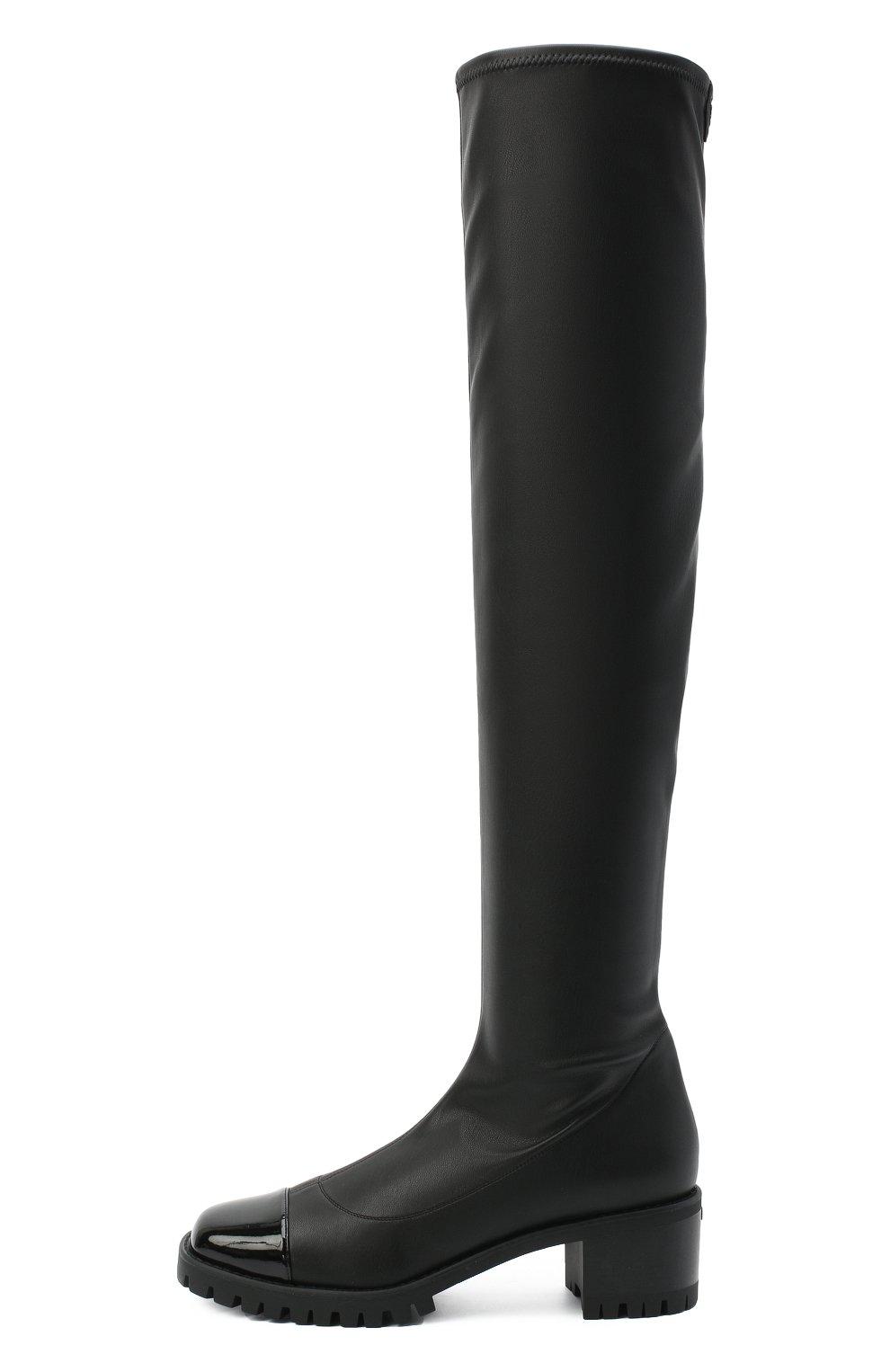 Женские комбинированный ботфорты GIUSEPPE ZANOTTI DESIGN черного цвета, арт. I080002/001 | Фото 3