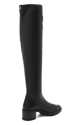 Женские комбинированный ботфорты GIUSEPPE ZANOTTI DESIGN черного цвета, арт. I080002/001 | Фото 4
