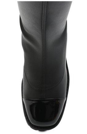 Женские комбинированный ботфорты GIUSEPPE ZANOTTI DESIGN черного цвета, арт. I080002/001 | Фото 5