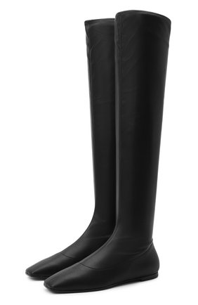 Женские комбинированный ботфорты GIUSEPPE ZANOTTI DESIGN черного цвета, арт. I080010/002 | Фото 1