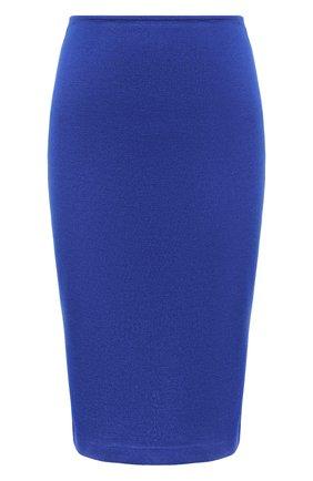 Женская юбка из вискозы и шерсти ST. JOHN синего цвета, арт. K7100D1   Фото 1
