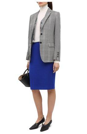 Женская юбка из вискозы и шерсти ST. JOHN синего цвета, арт. K7100D1   Фото 2