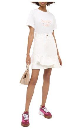 Женская хлопковая футболка SEE BY CHLOÉ белого цвета, арт. CHS20AJH52115 | Фото 2