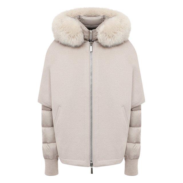 Комплект из шерстяной накидки и пуховой куртки Moorer