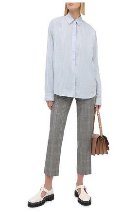 Женская хлопковая рубашка RTA голубого цвета, арт. WU0520-7116LTSP   Фото 2