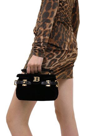 Женская сумка BALMAIN черного цвета, арт. UN1S494/TVTW | Фото 2
