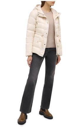 Женский пуховая куртка MICHAEL MICHAEL KORS белого цвета, арт. MU02J6C7T3 | Фото 2