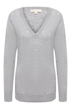 Женский кашемировый пуловер MICHAEL MICHAEL KORS серого цвета, арт. MU06PB3EPE | Фото 1
