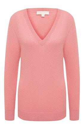 Женский кашемировый пуловер MICHAEL MICHAEL KORS розового цвета, арт. MU06PB3EPE | Фото 1