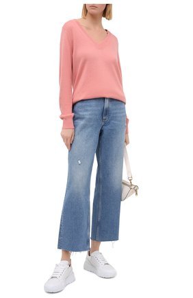 Женский кашемировый пуловер MICHAEL MICHAEL KORS розового цвета, арт. MU06PB3EPE | Фото 2