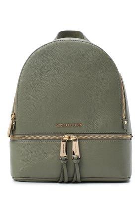 Женский рюкзак rhea medium MICHAEL MICHAEL KORS хаки цвета, арт. 30S5GEZB1L | Фото 1