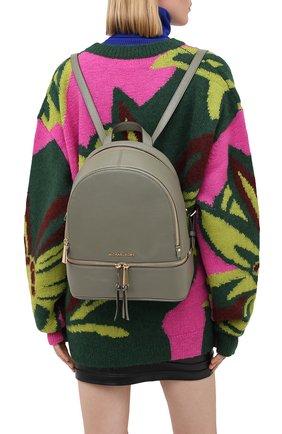 Женский рюкзак rhea medium MICHAEL MICHAEL KORS хаки цвета, арт. 30S5GEZB1L | Фото 2